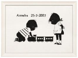 Jip & Janneke met de trein borduurpakket