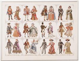 Borduurpakket van de geschiedenis van de mode.