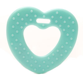 Baby blauwe ribbel hartjes bijtring van Durable.