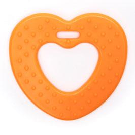 Oranje ribbel hartjes bijtring van Durable.