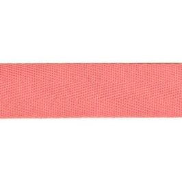 Keperband van polyester 20 mm roze