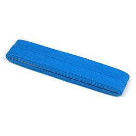 Blauw biaisband van katoen 12 mm op 5 meter kaartje