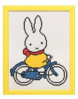 Nijntje op de fiets borduurpakket