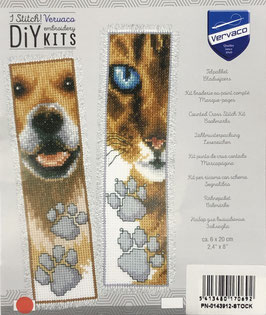 Bladwijzer borduurpakket van een hond