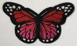 Grote vlinder applicatie rood / roze