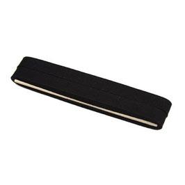 Zwart biaisband van katoen 12 mm op 5 meter kaartje