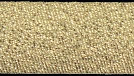 Licht goud glitter biaisband 18 mm