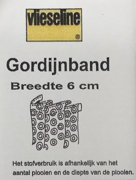 Gordijnband 6cm breed naaibaar