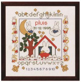 Nijntje geboortetegel huis borduurpakket