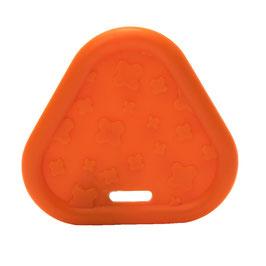 Oranje driehoek bijtring van Durable.
