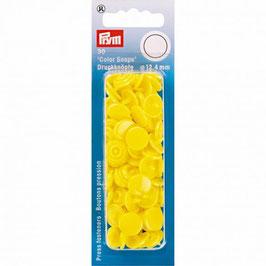 Ronde Color Snaps licht geel