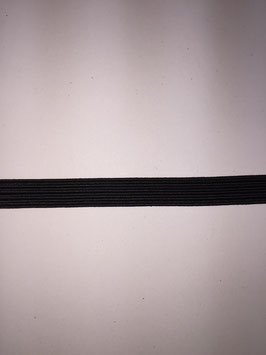 Zwart elastiek 7 mm breed