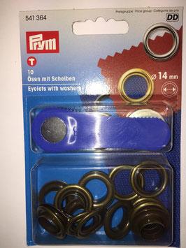 Ringen met schijven 14 mm brons