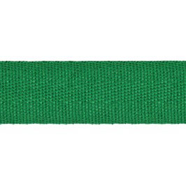 Keperband van polyester 20 mm groen