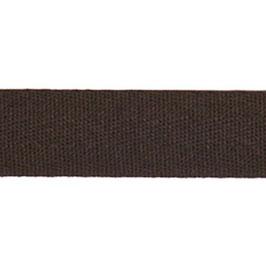Keperband van polyester 20 mm donker bruin