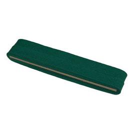 Groen biaisband van katoen 12 mm op 5 meter kaartje