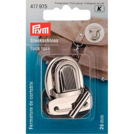 Insteeksluiting zilver kleur 26 mm