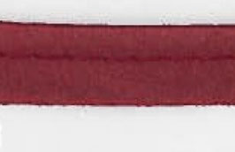 Donker rood paspelband van satijn