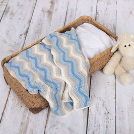Baby Ripple Blanket crochetkit - Blue