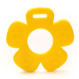 Gele bloem met bloemprint bijtring van Durable.
