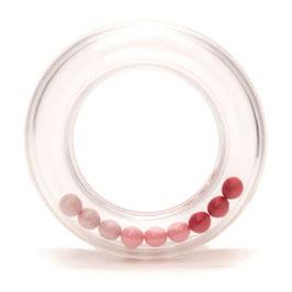 Durable rammelaar met roze balletjes 63 mm