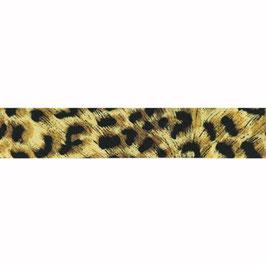 Elastiek panterprint 40mm breed