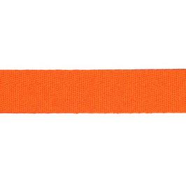 Keperband van polyester 20 mm oranje