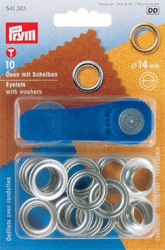 Ringen met schijven 14 mm zilverkleurig