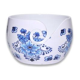 Durable aluminium yarn bowl hoog model met dutch bleu print