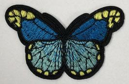 Grote vlinder applicatie blauw met gele stippen