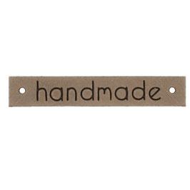 Leren label handmade lichtbruin