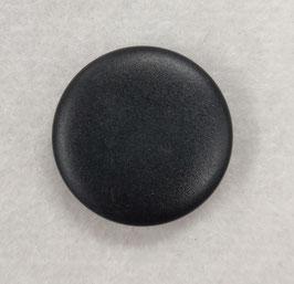 Zwarte knoop met een glade rand bovenkant