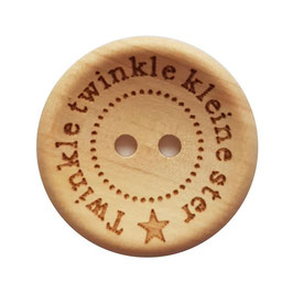 Houten knoop van Durable met de text Twinkel twinkel kleine ster 20 mm