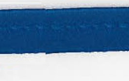 Blauw paspelband van satijn