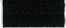 Zwarte rits op rol voor kleding S60
