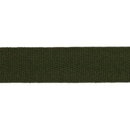 Keperband van polyester 20 mm donker groen