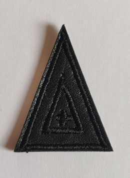 Driehoek zwart lederen applicatie zelfklevend