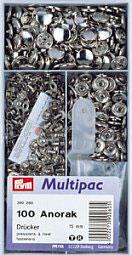 Drukknoop inslaan zilver kleur 15 mm grootverpakking