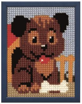 Hondje voor zijn hok borduurpakket