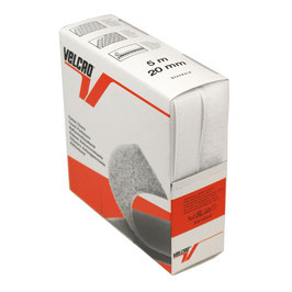 Opnaaibaar klittenband wit 20 mm