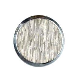 Metalen knoop plat glad geruwd zilverkleur