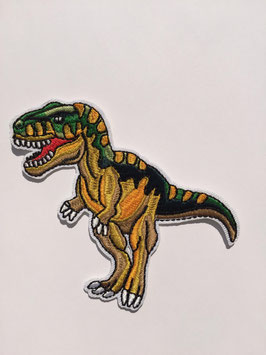 Groen gele Tyranosaurus-reks (T-Rex) dinosaurus applicatie
