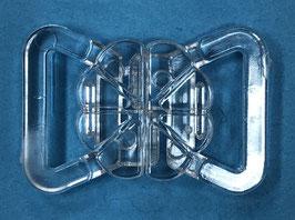 Bikini sluiting bloemvorm sluiting 10 mm transparant kunststof