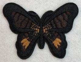 Applicatie vlinder zwart met donker bruine vleugels