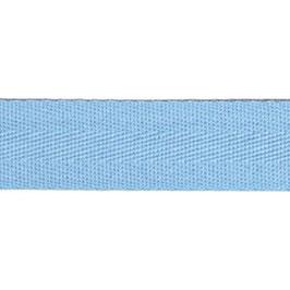 Keperband van polyester 20 mm licht blauw