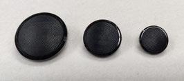 Zwarte knoop met een glade rand en lichte ribbels binnenin