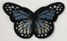 Grote vlinder applicatie blauw / grijs