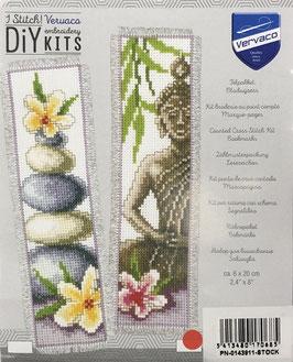 Bladwijzer borduurpakket van een Boedha