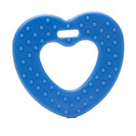 Donker blauwe ribbel hartjes bijtring van Durable.