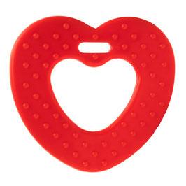 Rode ribbel hartjes bijtring van Durable.